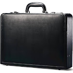 Samsonite Attache Leather Briefcase - Black