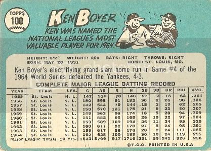 #100 Ken Boyer (back)
