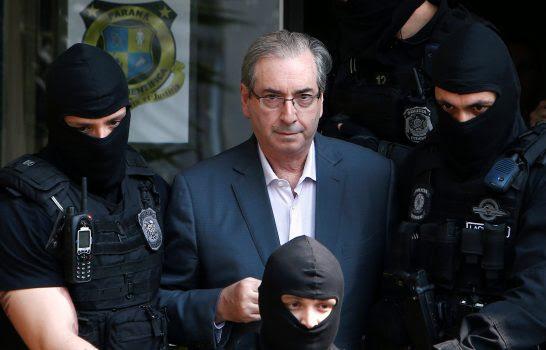 Eduardo Cunha fez exames no IML, após ser preso na Lava Jato. Foto: Rodolfo Buhrer/Reuters