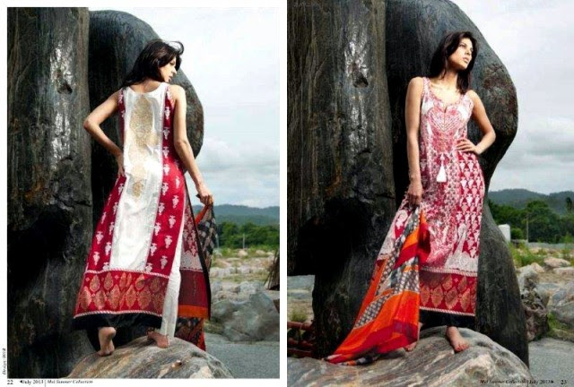 Beautiful-Cute-Girls-Models-Wear-Summer-Eid-Dress-Collection-2013-Lakhani-Silk-Mills-4