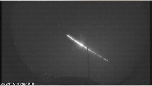 Fireball over Jutland, Denmark