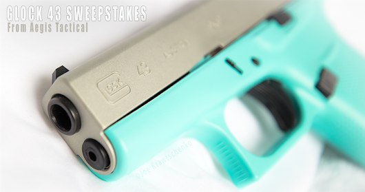 Enter to win a Glock 43 9mm Robin's Egg Blue & Shimmering Aluminum Finish