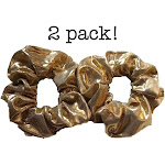 Gold Metallic Scrunchies, 2 piece Pack