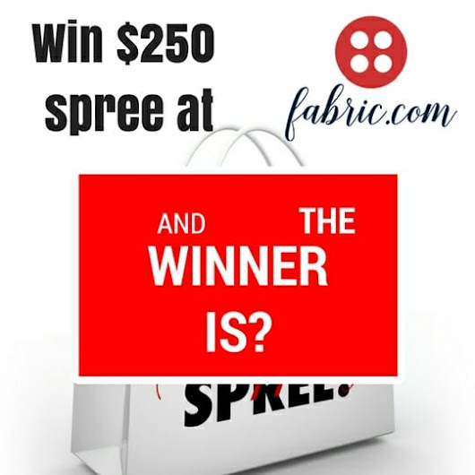 Announcing the winner of the $250 Fabric.com shopping spree - So Sew Easy