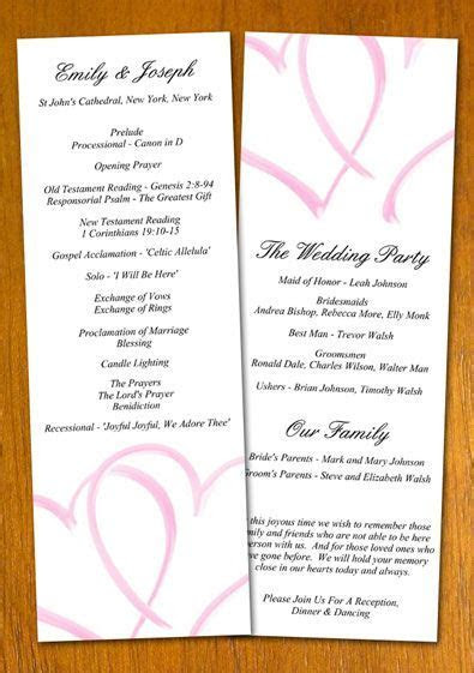 Free wedding program templates   Free Wedding Program