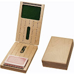 WE Games 2 Track Foldable Travel Cribbage Set w/ Storage, Cards & Metal Pegs - Solid Wood