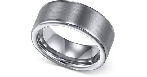 Macy's Men's Tungsten Ring, 8mm Wedding Band in Gray for