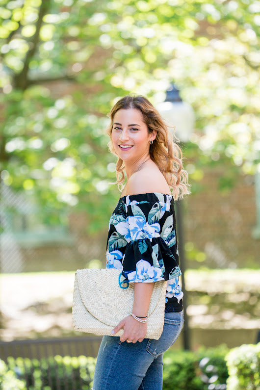 Tuck Shop Trading Co. Clutch and OTS Floral Top | Something About That