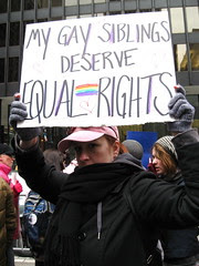 Elizabeth McQuern at Chicago Prop 8 Protest
