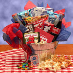 Gift Basket Blockbuster Night Movie Pail - with 10.00 Redbox Gift Card