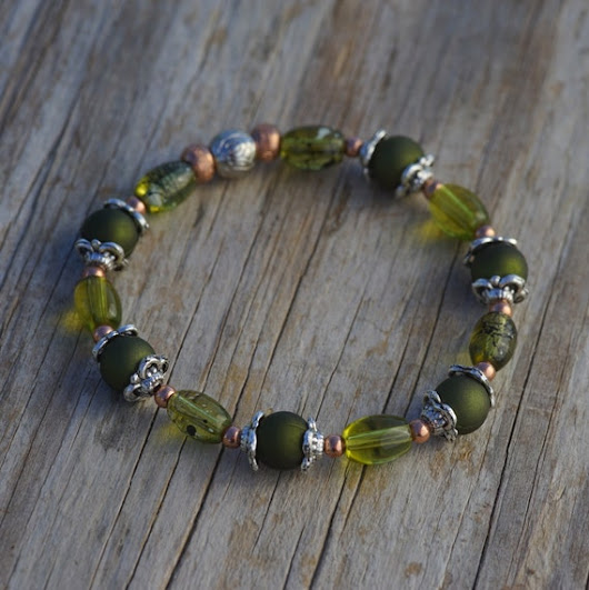 Enchantingly Green by BeadedRoad on Etsy