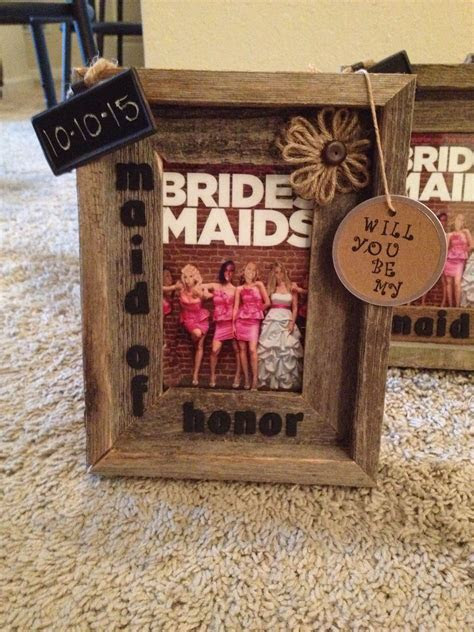 How I asked my bridesmaids to be in wedding! #rustic #diy