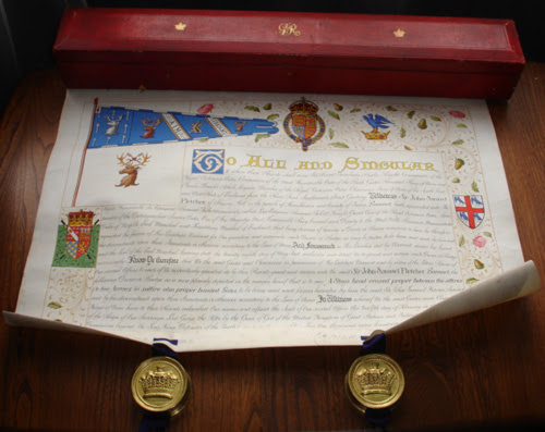 Grant of a badge to Sir John Samuel Fletcher Baronet