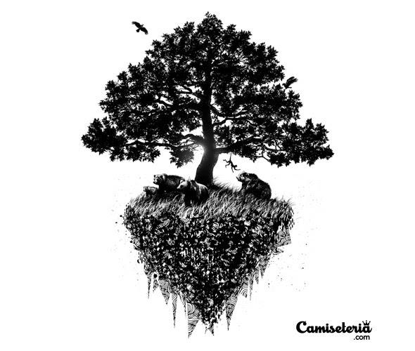 Camiseterias Black Tree Compete Tee Tion