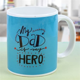 Send Ceramic White Mug with Print Height 4 Inches