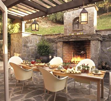 Siempre guapa con norma cano como decorar un patio con chimenea y comedor - Como decorar un patio ...