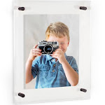 24x36 Acrylic Floating Frame for Pictures and Art With Black Standoff (Full Frame is 28x40)