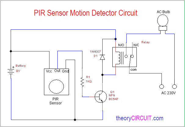 wiring diagram for motion detector