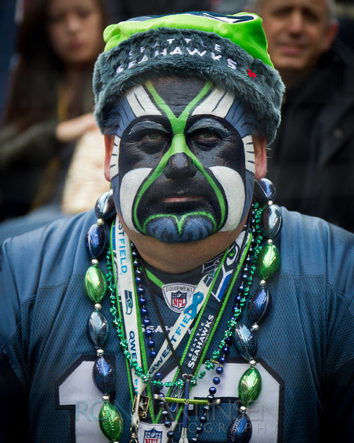 Seahawks Fan - Copyright Ron Martinsen