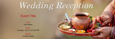 Free Wedding Reception invitation with India?s #1 online tool
