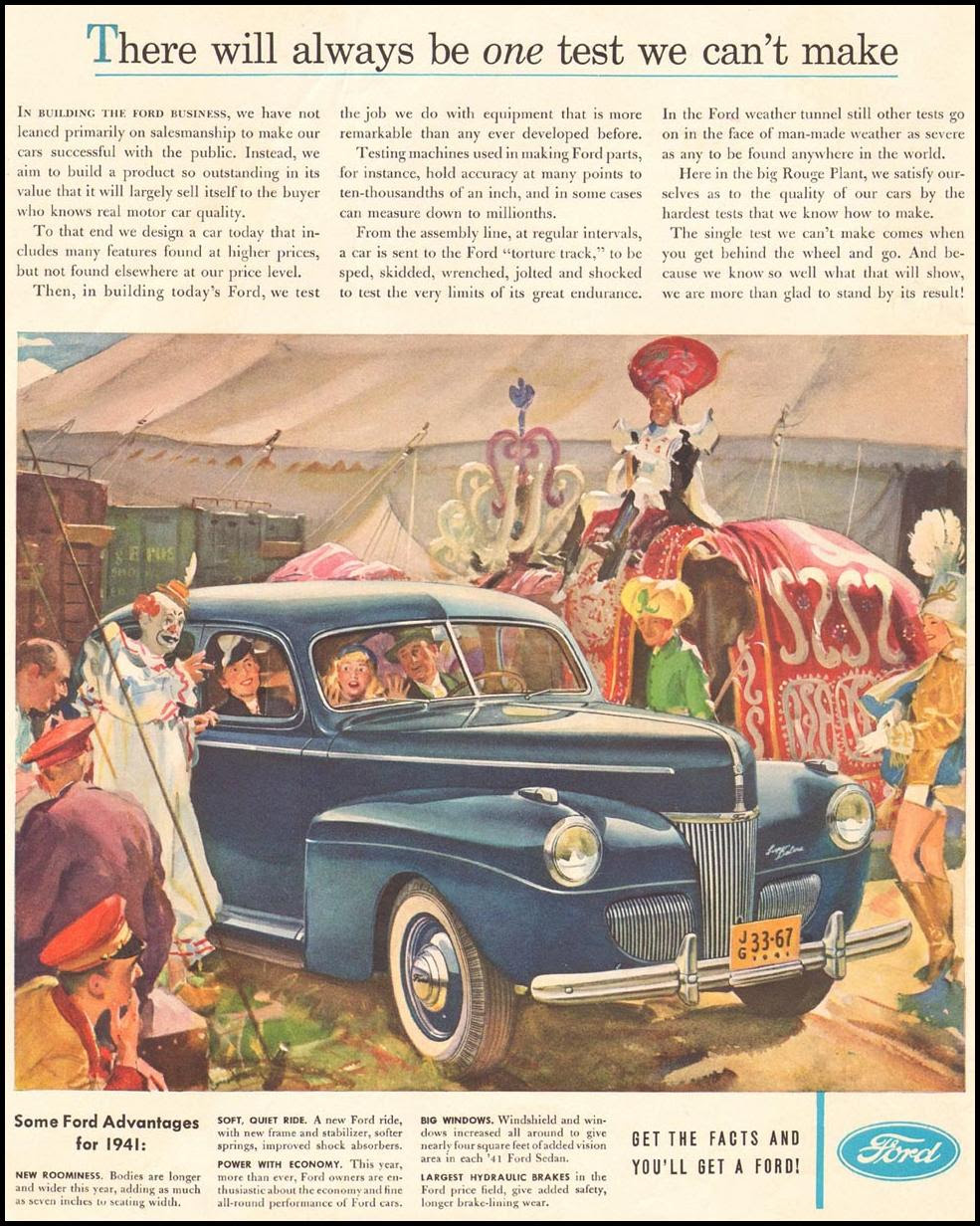 FORD AUTOMOBILES LIFE 04/28/1941 INSIDE FRONT
