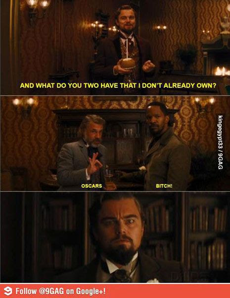 Leonardo DiCaprio's plantation owner in DJANGO UNCHAINED wasn't sinister enough to get an Oscar nod like his fellow bounty hunters, played by Christoph Waltz and Jamie Foxx.