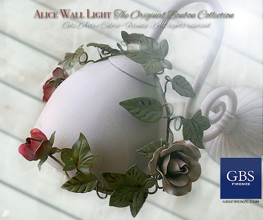 Alice wall light. Ivy and Roses
