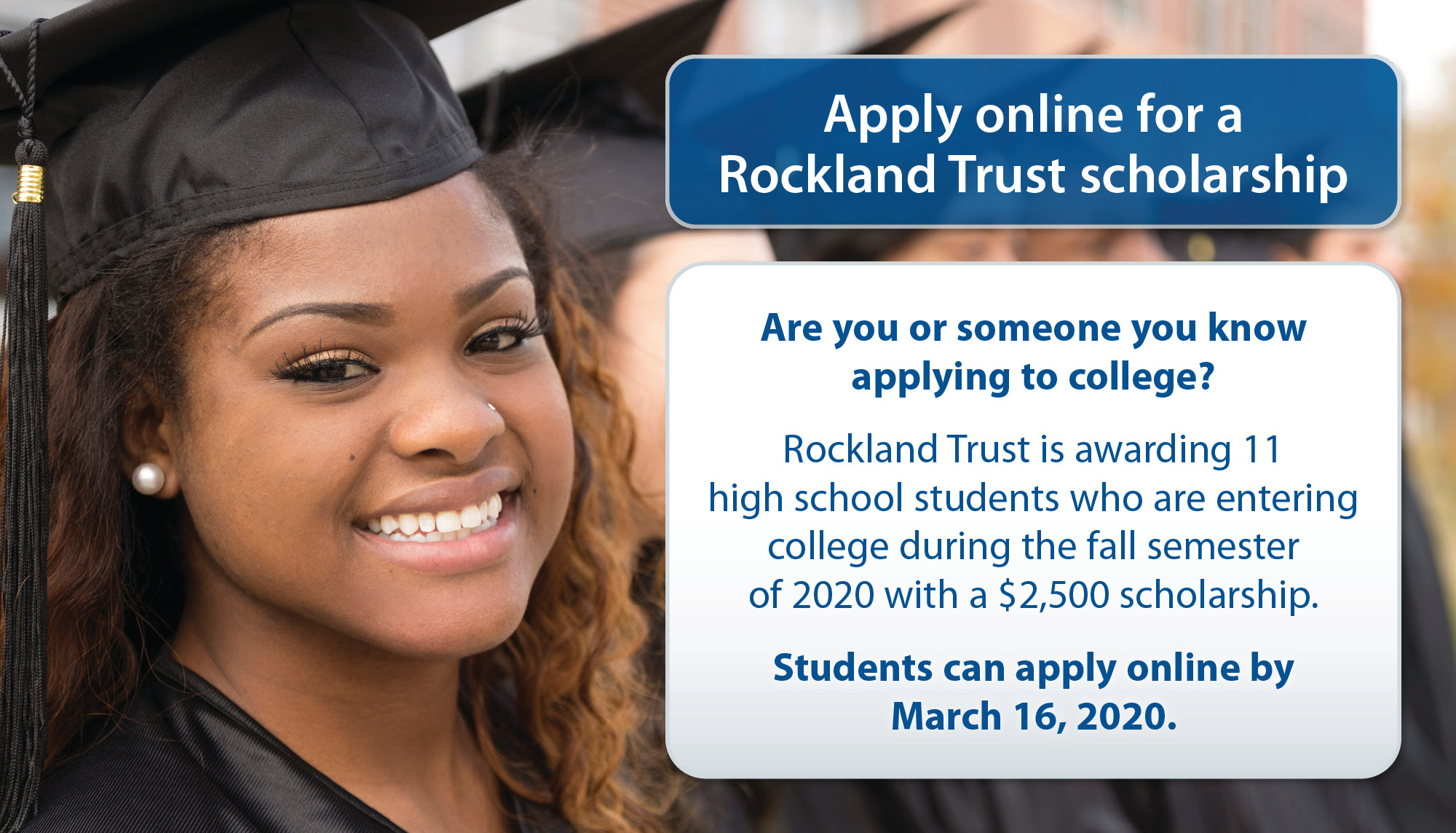 Rockland Trust - apply for a scholarship