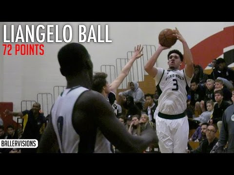 LiAngelo Ball Scores 72 POINTS! 13 Three Pointers! Full Highlights