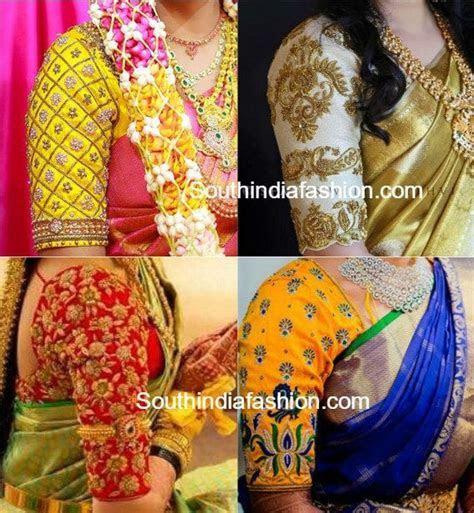 Elbow Length Sleeves Pattu Saree Blouse Designs ? South