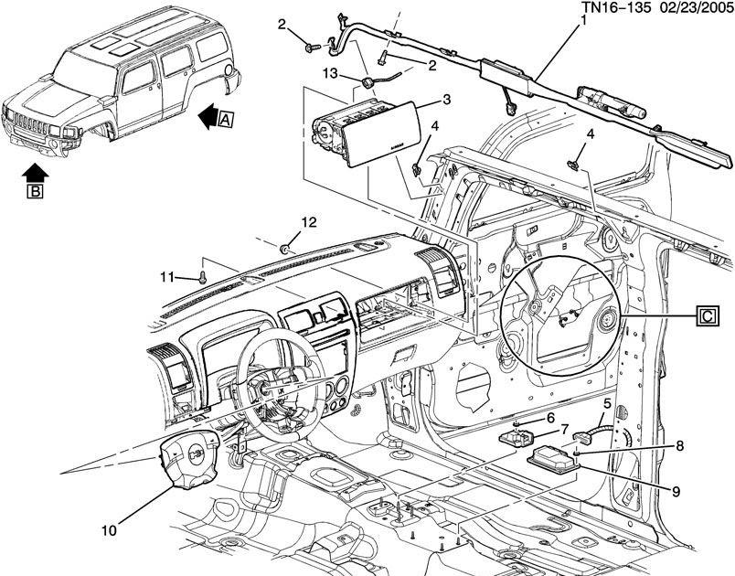 Hummer H3 Airbag Fuse