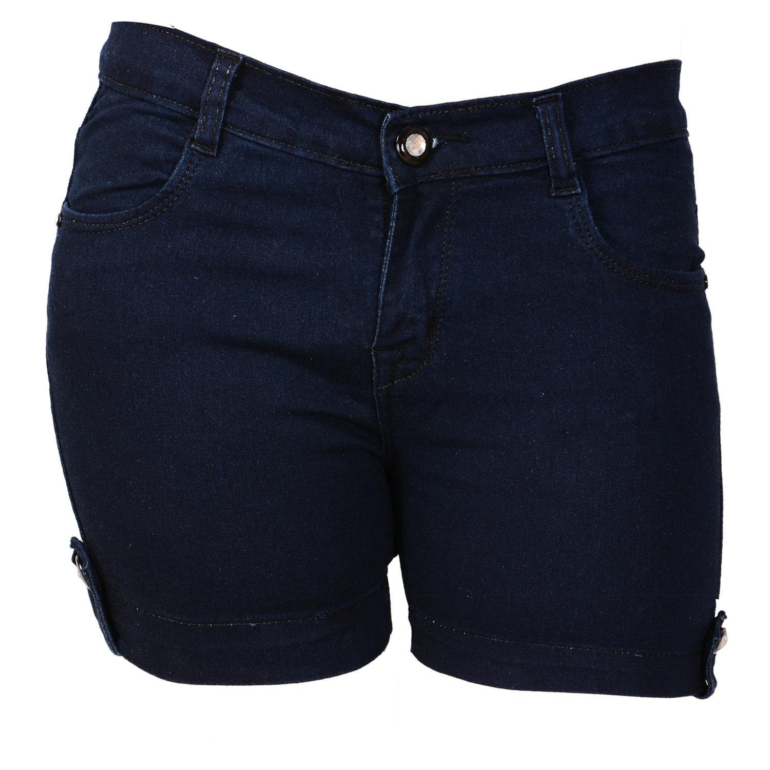 Deals on Ganga Basic Denim Shorts for Women