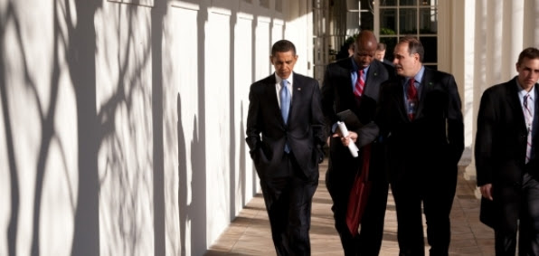 President Obama and David Axelrod