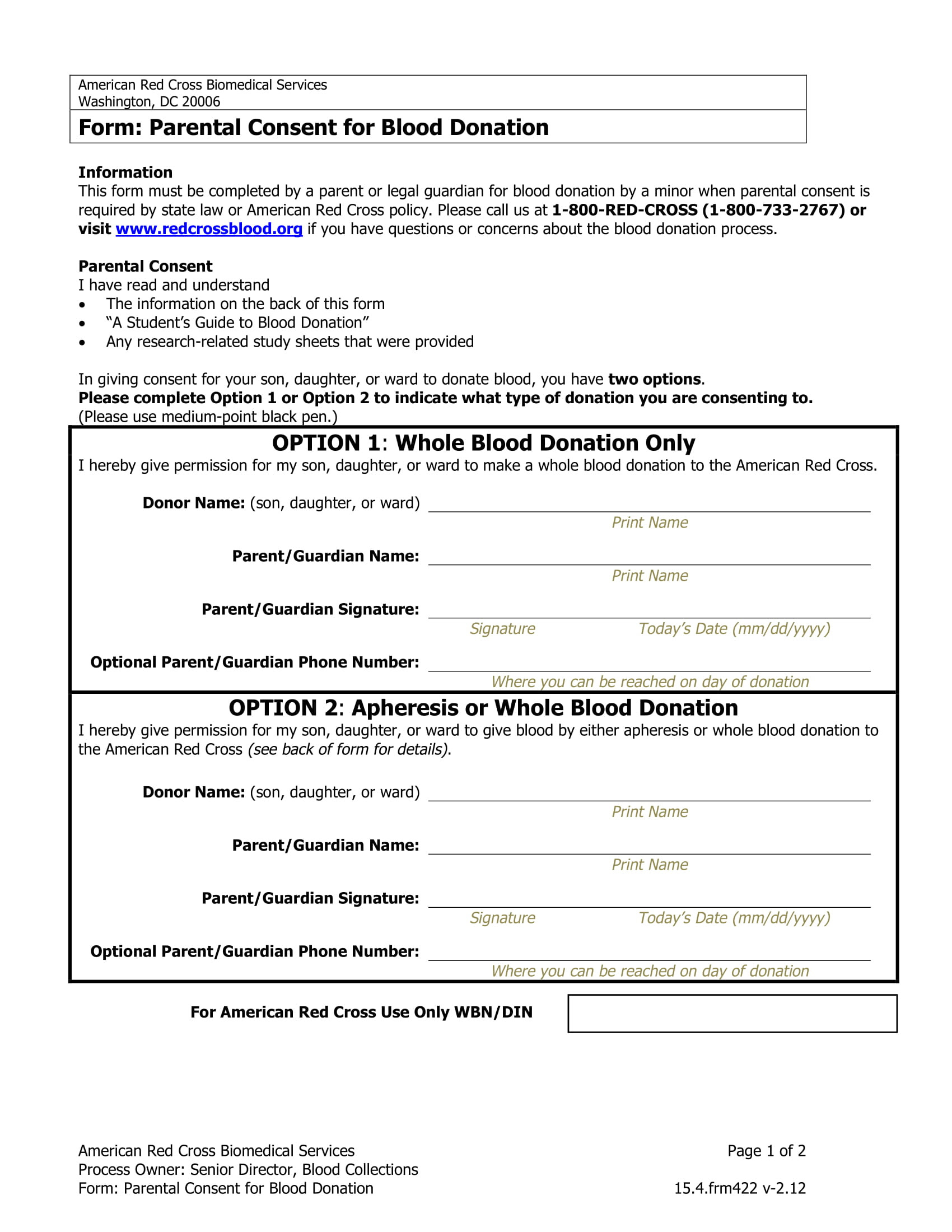 4 Blood Donation Forms Pdf Doc