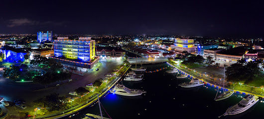 Barbados 50th Anniversary Independence Lights, Bridgetown