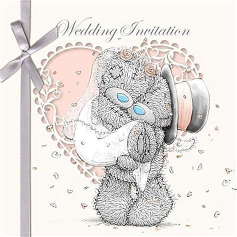 Wedding Invitation Me to You Bear Cards (Pack of 6