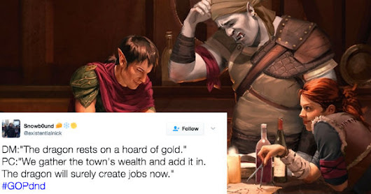 Twitter Trolls Are Unleashing Dungeons & Dragons Fury On Republicans With New Trending Hashtag