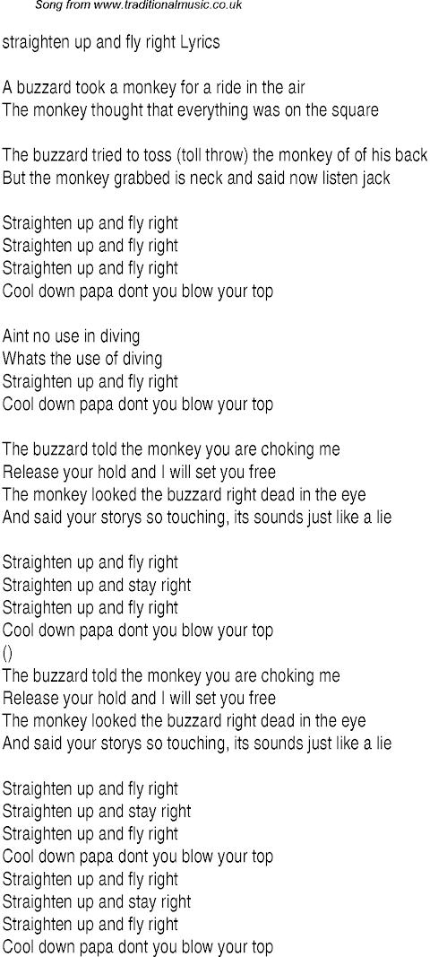 Straighten Up And Fly Right Lyrics