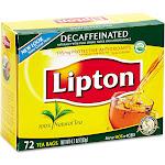 Lipton Tea, Decaffeinated, Bags - 72 bags, 4.7 oz