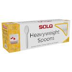 Solo Heavyweight Plastic Spoon, White, 500-count