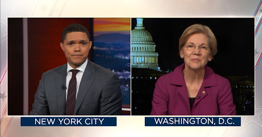 Senator Elizabeth Warren Reacts to Being Silenced-The Daily Show with Trevor Noah - Video Clip | Comedy Central