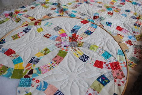 Double Wedding Ring quilt   Flickr   Photo Sharing!
