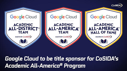 CoSIDA Collaborates with Google Cloud As Title Sponsor of Academic All-America® Program