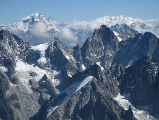 View from Aiguille du Midi French Alps