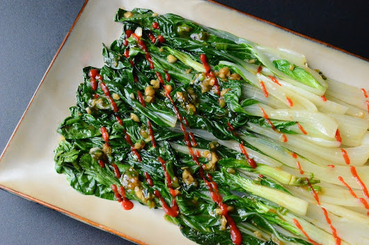 Salty, Sweet, Spicy-Heat Bok Choy