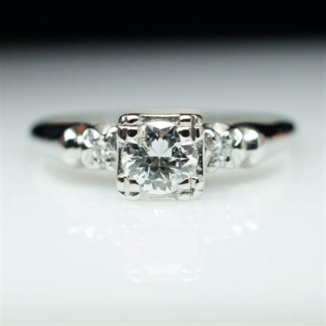 Vintage Old European Cut Diamond Solitaire Engagement Ring