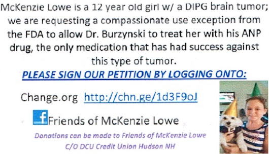 Your Signature Can Help Save 12-Year Old McKenzie Lowe's Life | Finger Click Saver