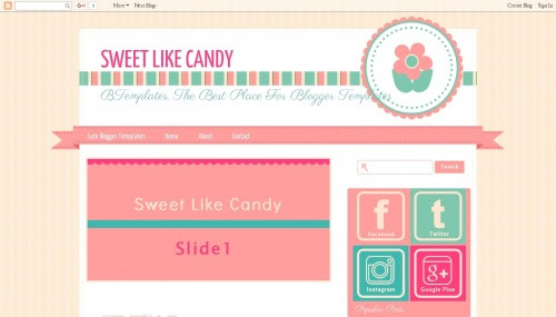 """Sweet Like Candy"" Craft Blog Templates Free + Cute Design"