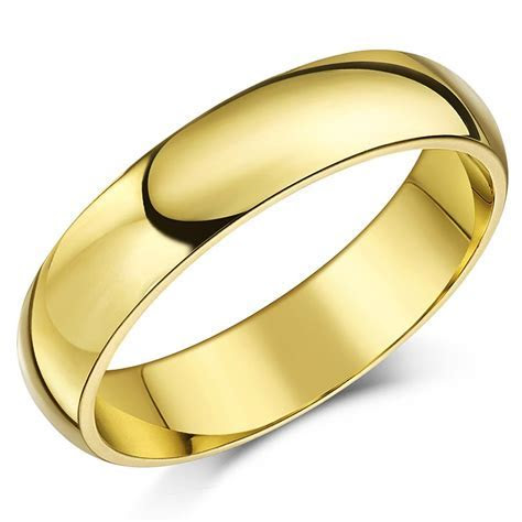 9ct Yellow Gold Ring X Heavy Court Shaped Wedding Ring