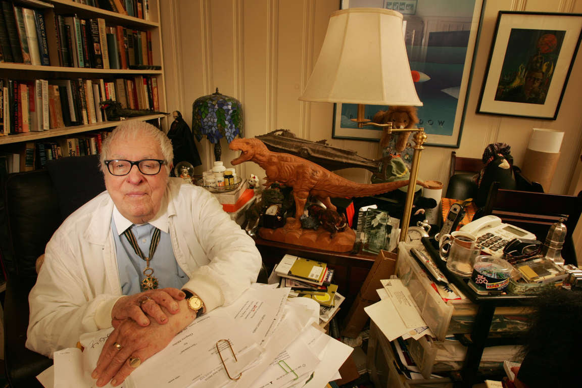 LOS ANGELES - SEPTEMBER 22: Ray Bradbury poses for a portrait at home in Los Angeles, California on September 22, 2008. (Photo by Dan Tuffs/Getty Images)